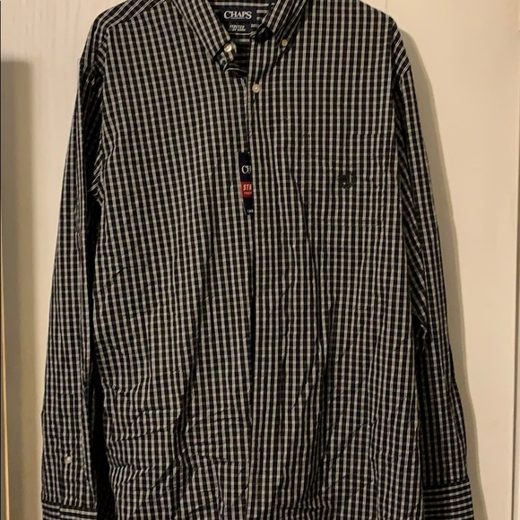 Chaps Other - Chaps plaid button up easy care shirt